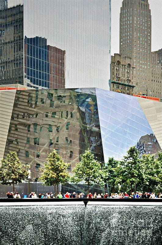 9 Art Print featuring the photograph 9/11 Memorial by Gwyn Newcombe