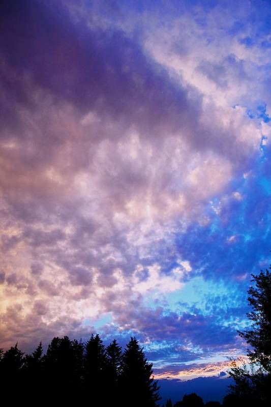 Sunset Art Print featuring the photograph Marble Sky 2 by Kevin Bone