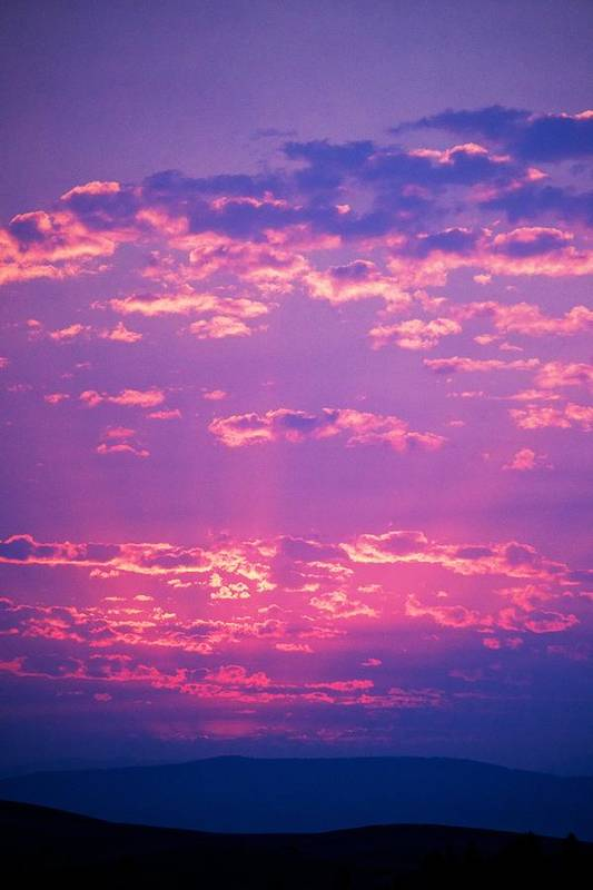 Sunset Print featuring the photograph Purple Sky by Kevin Bone