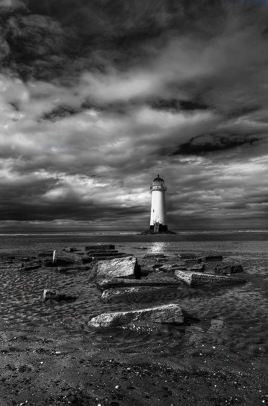 Beach Print featuring the photograph The Old Lighthouse by Adrian Evans