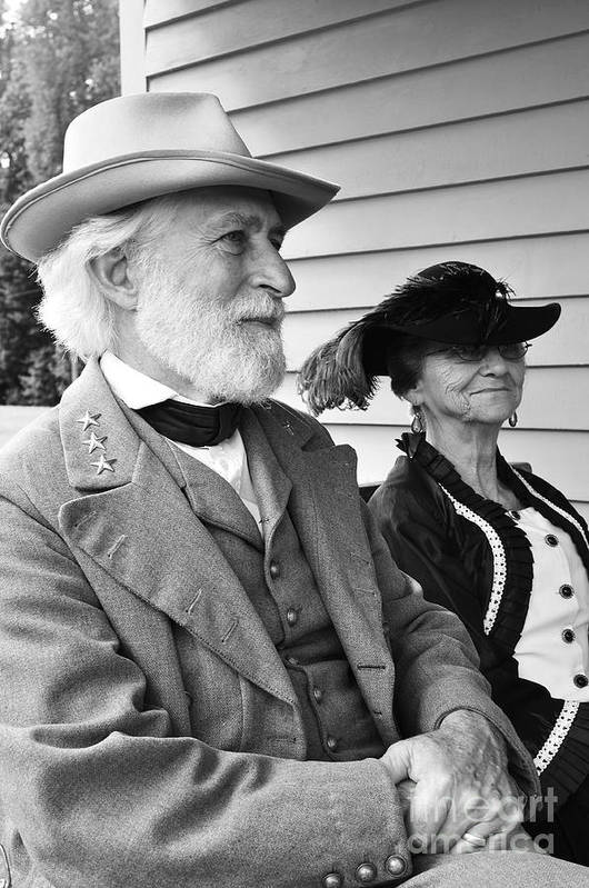 General Robert E. Lee Art Print featuring the photograph General Lee And Mary Custis Lee by Thomas R Fletcher