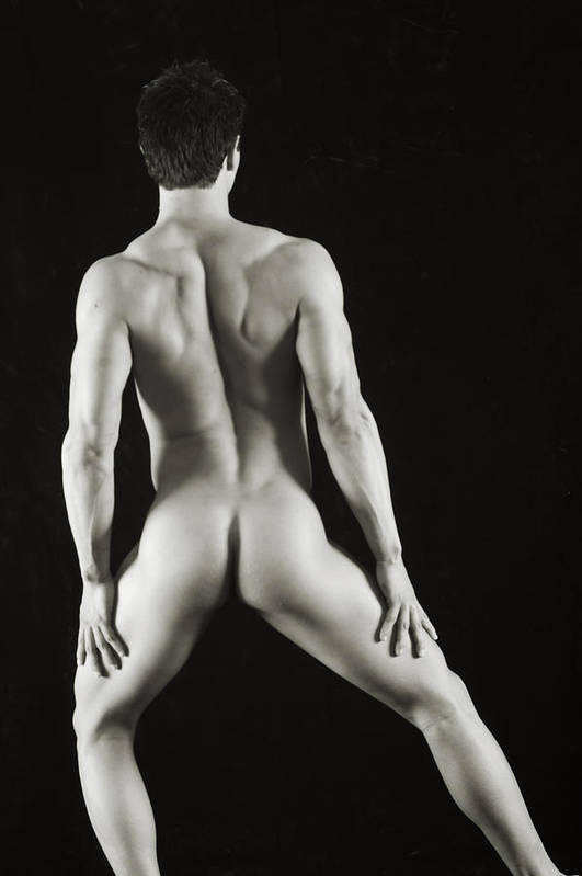 Male Nude Art Print featuring the photograph Alan 3 by Thomas Mitchell