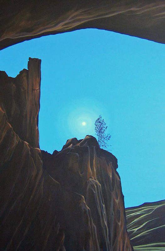 New Mexico Art Print featuring the painting Anasazi Dreams by Hunter Jay