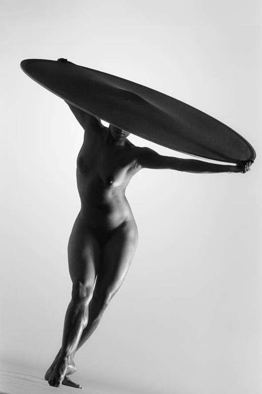 Nude Dancer Art Print featuring the photograph Big Hat by Victor Hall