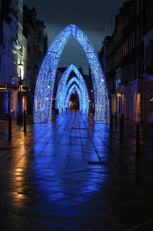 Jez C Self Art Print featuring the photograph Blue Arch by Jez C Self