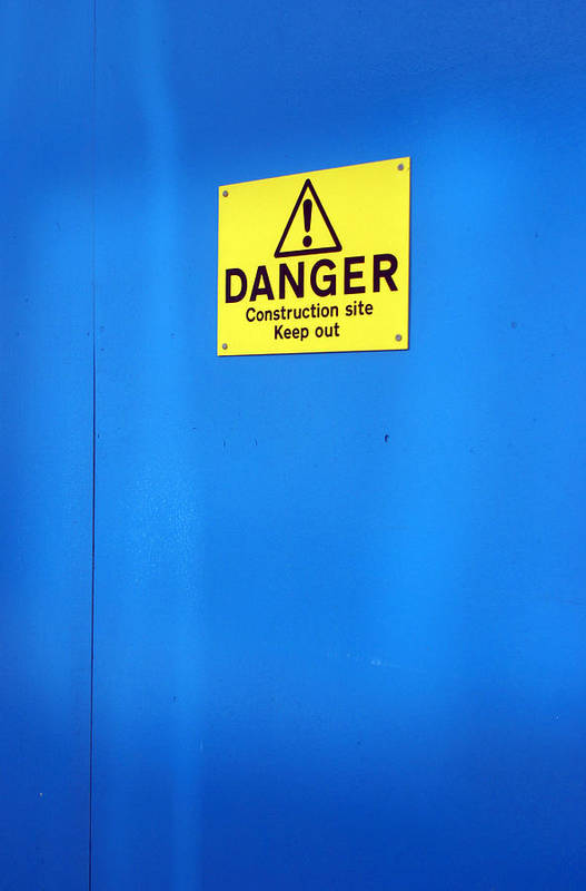 Jez C Self Art Print featuring the photograph Blue Warning 2 by Jez C Self