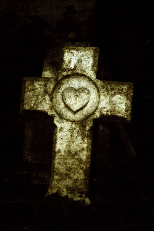 Cross Art Print featuring the photograph Cross My Heart by Carl Perry