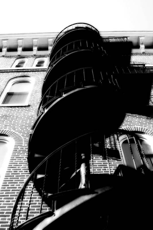 Fire Escape Art Print featuring the photograph Escape by Carl Perry