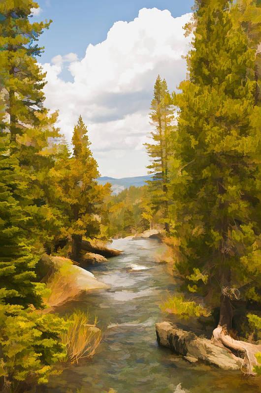Frazier Creek Art Print featuring the digital art Frazier Creek by Mick Burkey