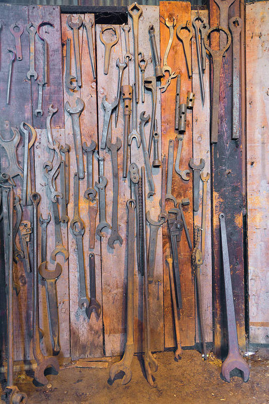 California Art Print featuring the photograph Gigantic Wrenches by Jim Thompson