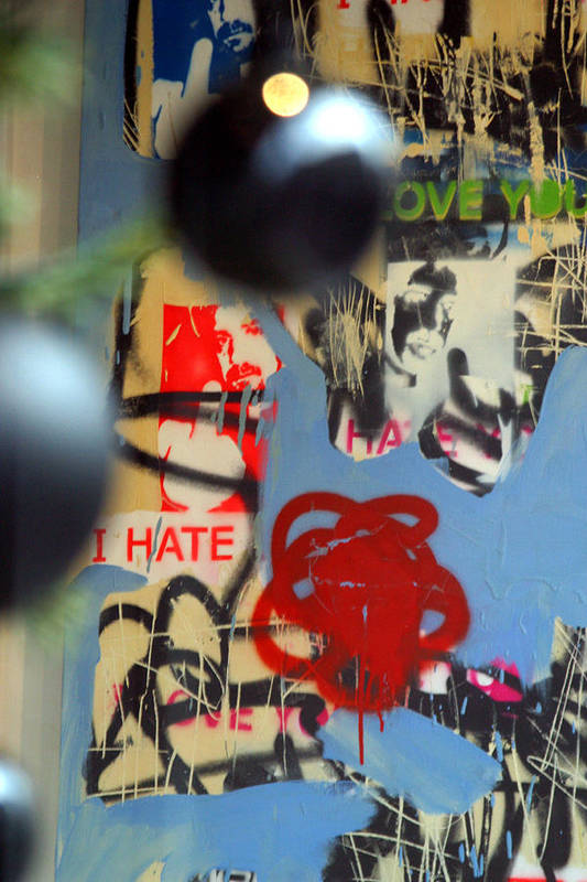 Jez C Self Art Print featuring the photograph Hate Love Hate Love by Jez C Self