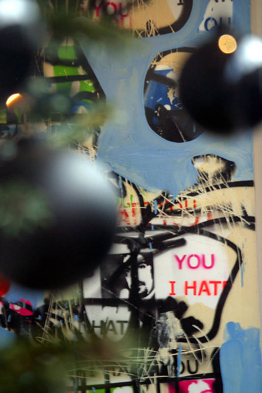 Jez C Self Art Print featuring the photograph Hate You by Jez C Self