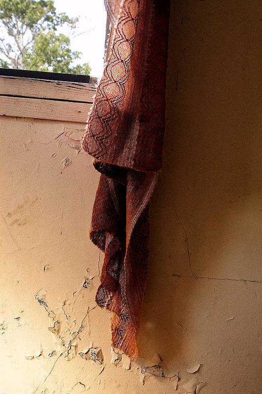 Curtain Art Print featuring the photograph Old Curtain by Linda McRae