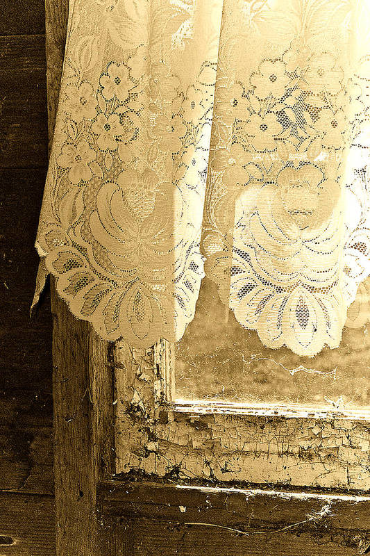 Lace Art Print featuring the photograph Old Lace by Linda McRae