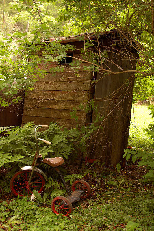 Outhouses Art Print featuring the photograph Pit Stop by Linda McRae