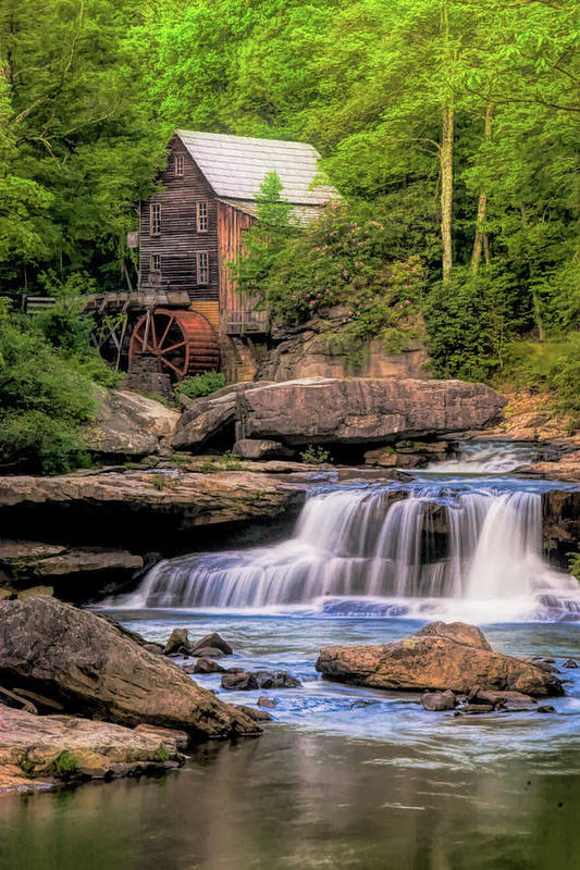 Glade Creek Mill Art Print featuring the photograph The Glade Creek Mill by Tom Mc Nemar