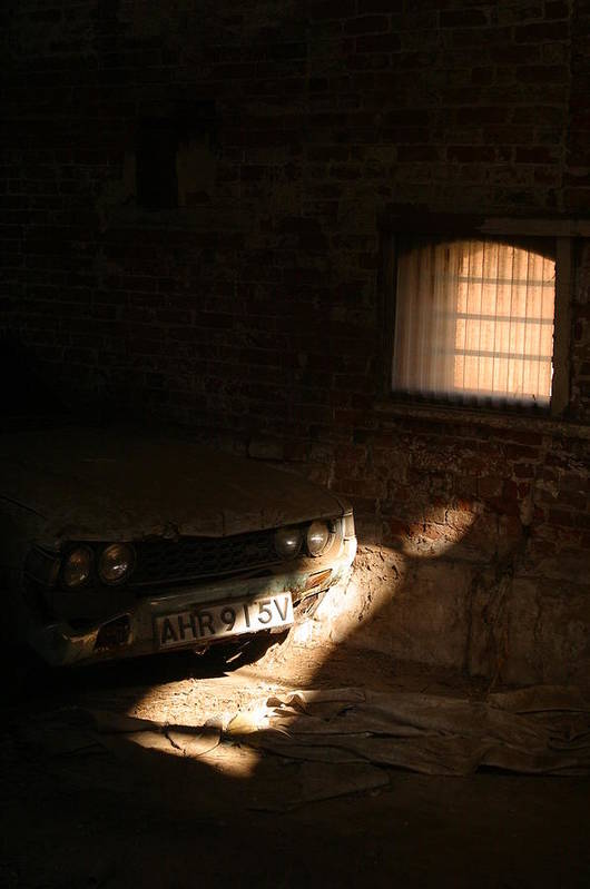 Jez C Self Art Print featuring the photograph Through The Bars Of The Barn I Lie by Jez C Self