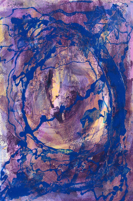 Abstract Art Print featuring the painting Vortex by Mordecai Colodner