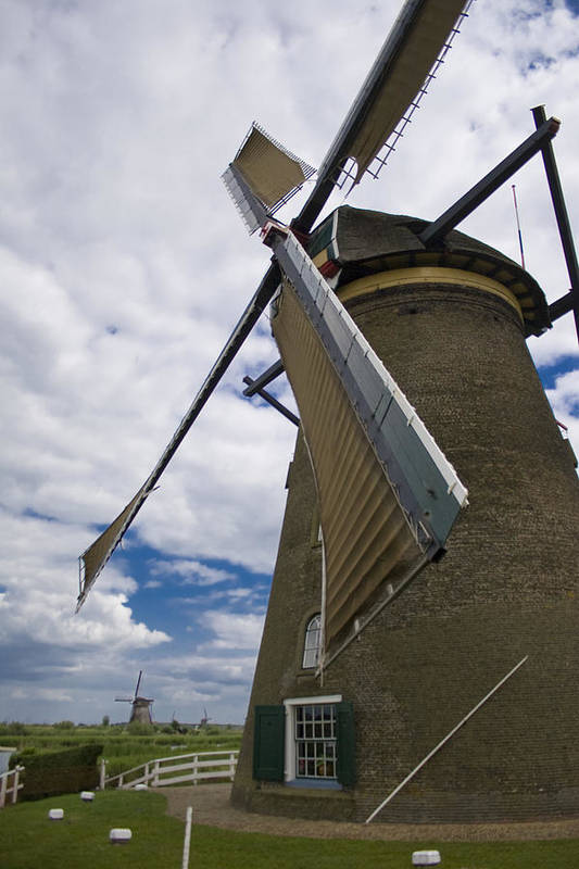 Windmill Art Print featuring the photograph Windmill In Motion by Joshua Francia