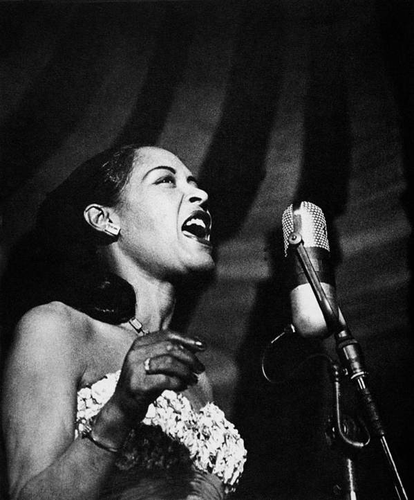 20th Century Art Print featuring the photograph Billie Holiday (1915-1959) by Granger