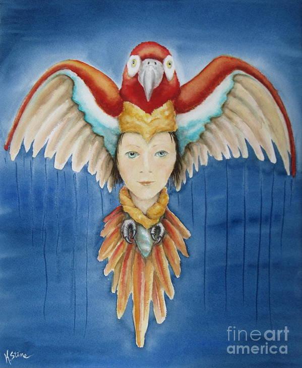 Amazon Art Print featuring the painting Wisdom Rising by Kym Stine