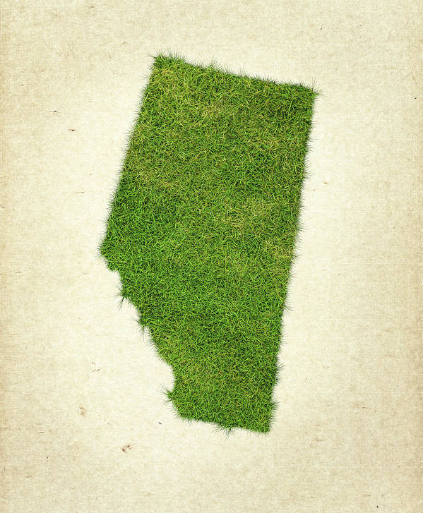 Map Of Alberta Print featuring the photograph Alberta Grass Map by Aged Pixel