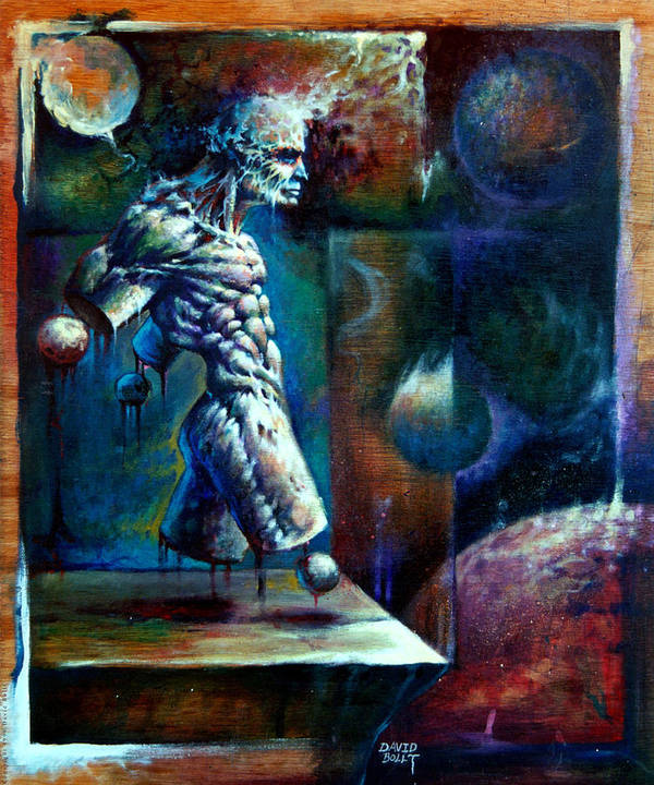 Fantasy Art Print featuring the painting Amputee by David Bollt
