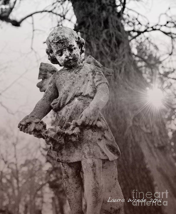 Angels Art Print featuring the photograph Angels Will Watch Over You by Artist and Photographer Laura Wrede