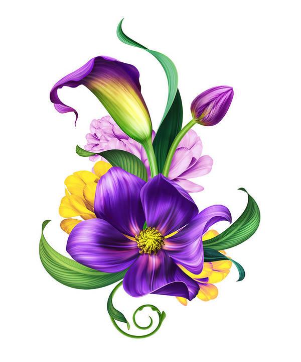 Unduh 45 Background Art Flowers HD Gratis