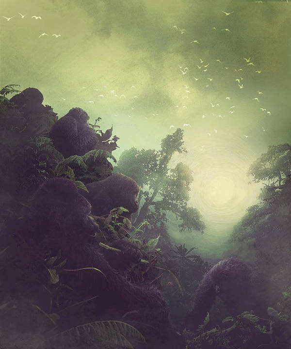 Rwanda Art Print featuring the photograph Guardians Of The Forest by Paul Weaver