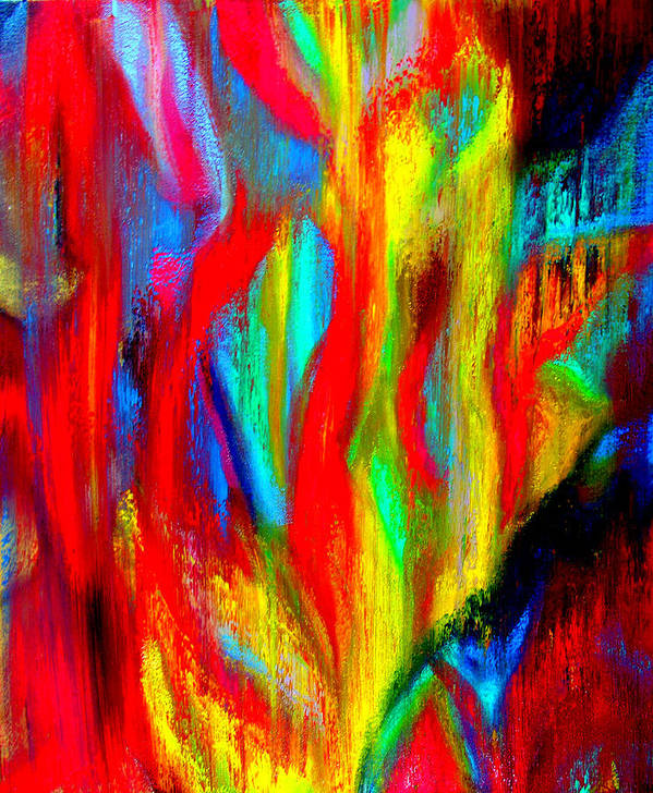 Abstract Art Print featuring the painting Inspire Experiment by Stan Hamilton
