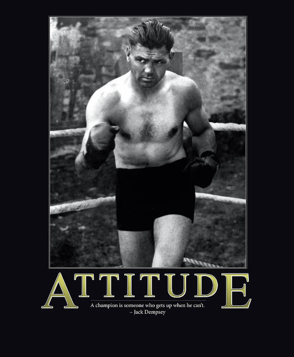 Jack Dempsey Art Print featuring the photograph Jack Dempsey Attitude by Retro Images Archive