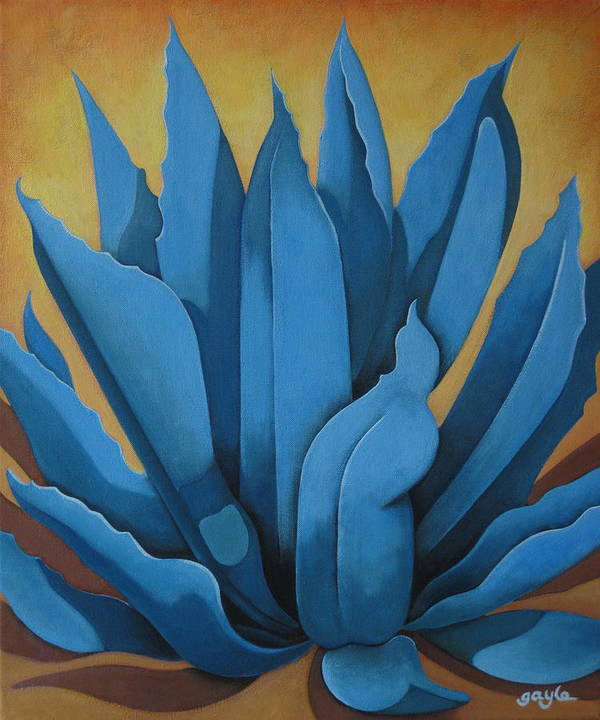 Agave Art Print featuring the painting My Agave by Gayle Faucette Wisbon