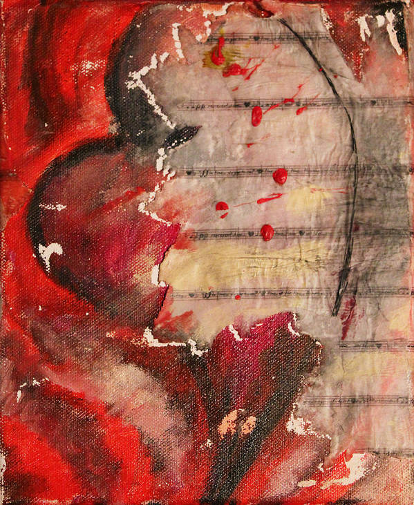 2009 Art Print featuring the painting One Series 10 - Auscultation by Will Felix