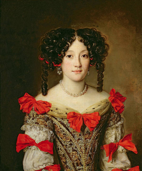Femme Art Print featuring the painting Portrait Of A Woman by Jacob Ferdinand Voet