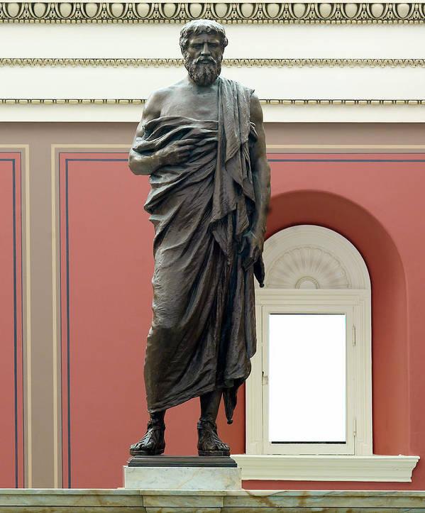 1900s Art Print featuring the photograph Portrait Statue Of Plato By John Joseph by Everett
