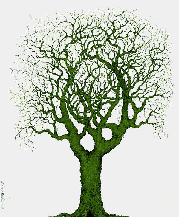 Green Art Print featuring the painting Renewal by Andrew Zeutzius