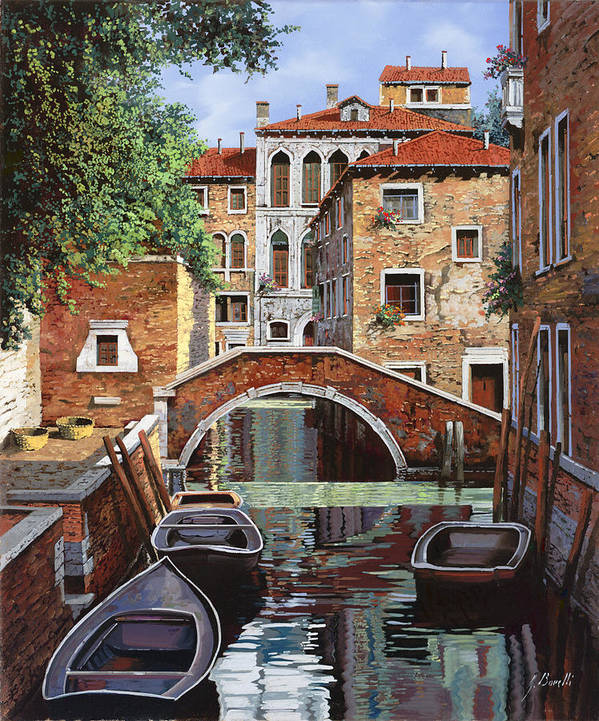 Venice Art Print featuring the painting Riflessi Di Venezia by Guido Borelli