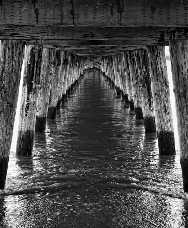 Pier Art Print featuring the photograph See Forever From Here by Heather Applegate