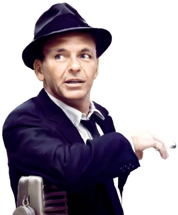 Frank Sinatra Art Print featuring the painting Sinatra. Frank Sinatra by Iconic Images Art Gallery David Pucciarelli