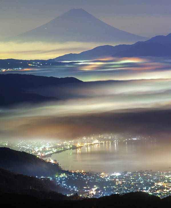 Japan Art Print featuring the photograph Staining Sea Of Clouds by Hisashi Kitahara