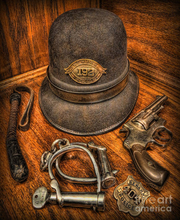 Police Art Print featuring the photograph The Copper's Gear - Police Officer by Lee Dos Santos