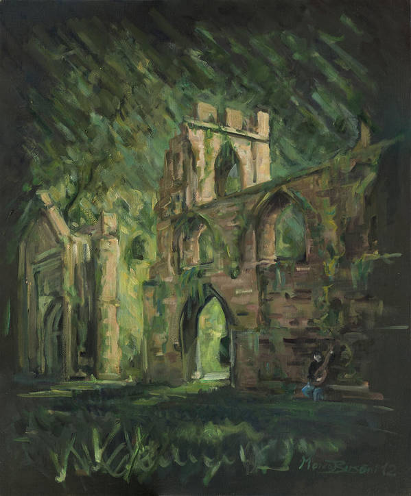 Castle Art Print featuring the painting The Old Castle by Marco Busoni