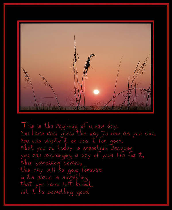 Sunrise Art Print featuring the photograph This Is The Beginning Of A New Day by Bill Cannon