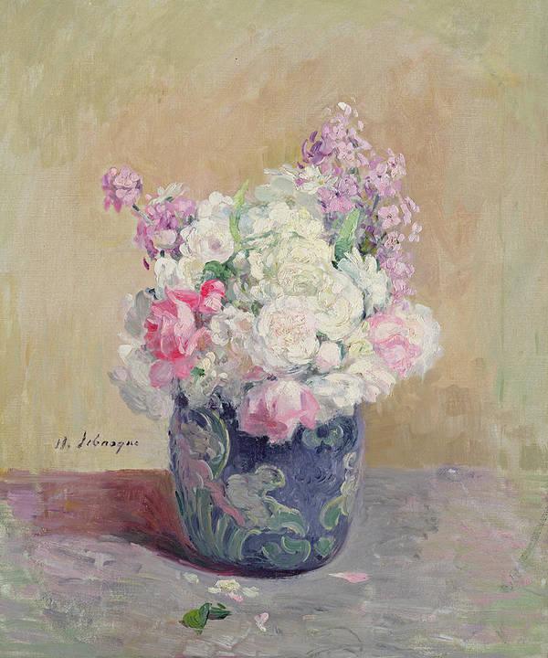 Still-life Art Print featuring the painting Vase Of Flowers by Henri Lebasque