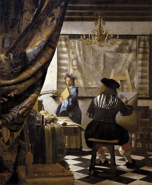 Vertical Art Print featuring the photograph Vermeer, Johannes 1632-1675. The by Everett