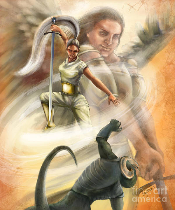 Christian Painting Art Print featuring the digital art Warrior by Tamer and Cindy Elsharouni