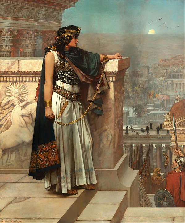 Painting Art Print featuring the painting Zenobia's Last Look On Palmyra by Mountain Dreams