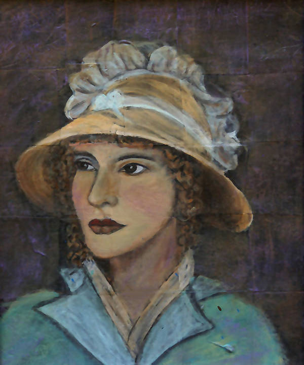 Lady In Hat Series Art Print featuring the painting Abigail by The Art With A Heart By Charlotte Phillips