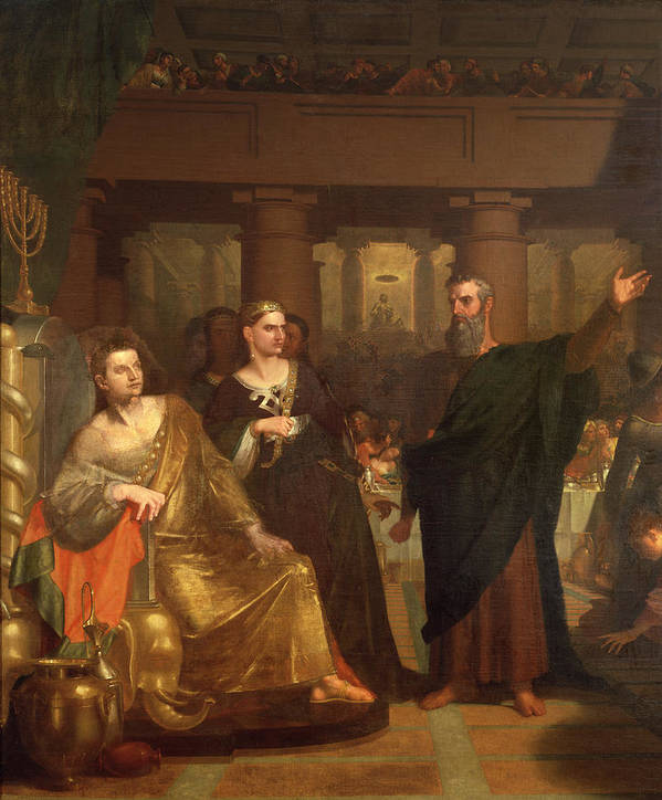 Belshazzar Art Print featuring the painting Belshazzar's Feast by Washington Allston
